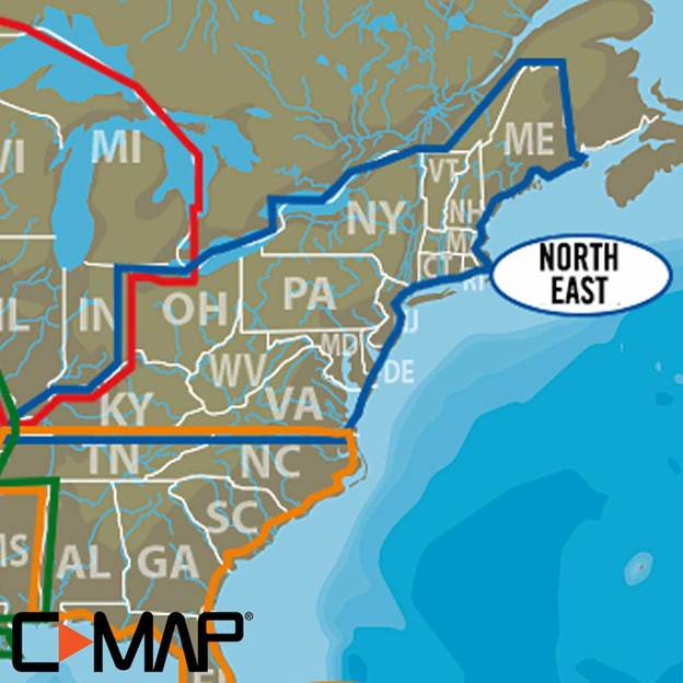 C Map Lake Insight Hd North East Us Simrad Usa - Lakes-in-the-us-map