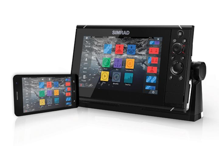 Quelle: SIMRAD; volle Bedienung über Smartphone oder Tablet